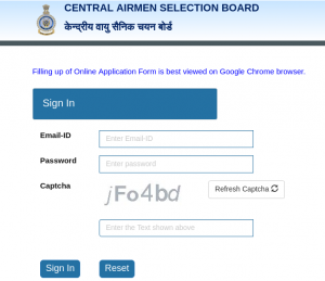 Airforce X Y Group Admit Card