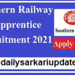 Southern Railway Act Apprentice Recruitment 2021 | best Apply Online for 3322 New Vacancy