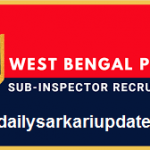 West Bengal SI Online Form 2021
