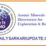 Atomic Minerals Directorate Various Post Online Form 2021