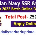 Indian Navy SSR And AA 10+2 SSR / AA Online Form 2021