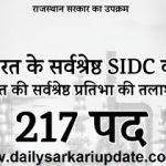 Rajasthan State Industrial Development And Investment Corporation Limited Various Post Online Form 2021